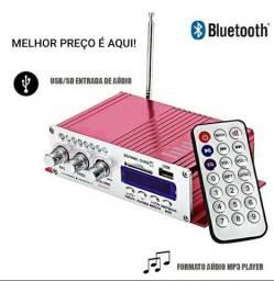 Mini Amplificador Bluetooth Som Ambiente