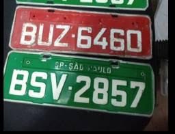 Placas de carro antigas