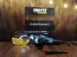 Lixadeira Angular 750w 5 Dicos de Corte de Brinde