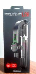 Estabilizador- Tripé L08 Gimbal-controle Via Bluetooth<br><br><br>