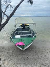 Barco de alumínio motor suzuki 40 hp 2t com volante