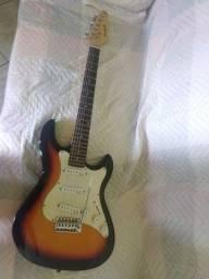 Guitarra super nova vai com capa.