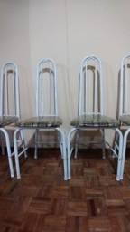 5 cadeiras tubular (sem a mesa)