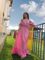Vestido longo ( rosa bebê )