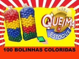 100 Bolinhas Coloridas (Queima de Estoque) Kit Novo // Pronta Entrega - Promoção 38,00