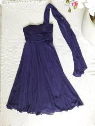 Vestido Longo Festa Roxo Lilás - tamanho 44 / G