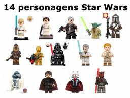 Lote 14 Personagens Star Wars R$ 134,00