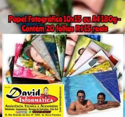 Papel Fotográfico 230g 10x15 Brilho Promoção 20 Folhas