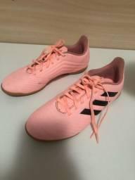 Chuteira Futsal Predator Rosa Salmão Usada Numero 37