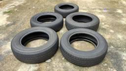 5 pneus aro 13 em ótimo estado pra vender logo