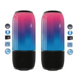 Título do anúncio: Caixinha De Som Bluetooth com Luz 360<br><br>