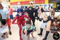 Personagem vivo - Ladybug e Cat Noir Miraculous