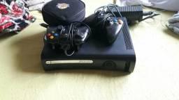 Xbox 360 desbloqueado 2 controles 15 jogos