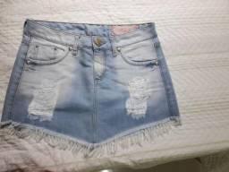 Saia jeans usada poucas vezes