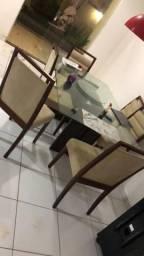 Venda mesa c/6cadeiras d sofa retrátil 2 lugares
