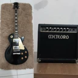 Guitarra + Amplificador - Guitarra Les Paul+ Cubo meteoro Mg 15r - até 12x no cartão