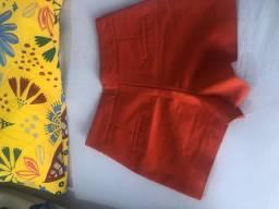 Shorts vermelho alfaiataria