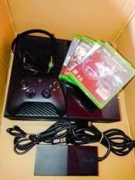 Xbox one + hd 500 + 5 jogos + headset original