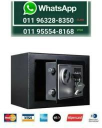 Cofre Eletrônico Teclado Com Senha + Chave Sos Modelo Osd170 (NOVO) Aceita Cartão*