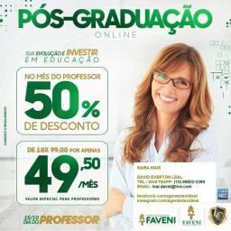 Pós-graduação na área de EDUCAÇÃO