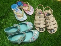 Kit 3 sandálias tamanho 25