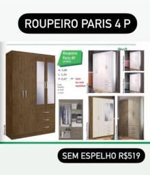 QUARDA ROUPA C / 4 PORTAS E 3 GAVETAS