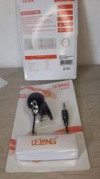 Microfone lapela com fio de 1m/ Preço imbatível