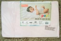 Kit Travesseiro bebê papi para berço e carrinho