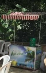 Passo ponto em frente itau em conceicao de Macabu com barraca agua coco