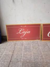 Placas para loja