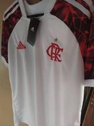 Camisa Branca do Flamengo 2021 Vários Tamanhos