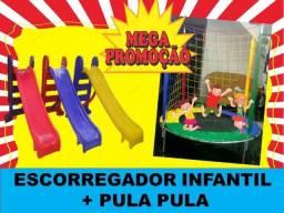 Escorregador + Pula Pula Infantil (Metade do Preço) // Kit Novo - Só Hojeeeee