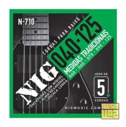 Encordoamento Para Baixo De 5 Cordas 040 125 NIG N710 Medidas Tradicionais