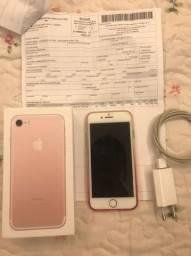 iPhone 7 32Gb Rosé IMPECÁVEL, SEM DETALHES.