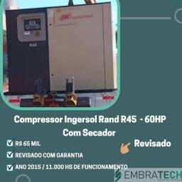 Compresso Ingersoll  Rand revisado e pouco rodado