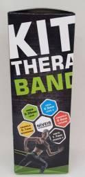 Kit 5 Faixas Elásticas Thera Band Com 5 Níveis Fisioterapia Fitness Exercício Musculação