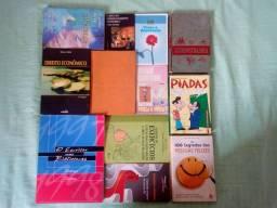 Lote de 12 livros sobre diversos temas
