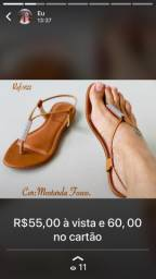 Sandálias rasteirinhas. Camaçari