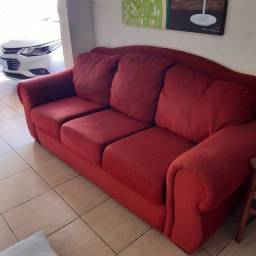 Sofa Vermelho entrego gratis em itajai