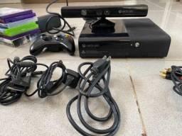 Título do anúncio: Xbox 360 com kinect e jogos