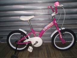 Bicicleta infantil aro 16 da Barbie