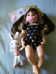 Boneca Bebê Reborn 55cm toda de silicone NOVA