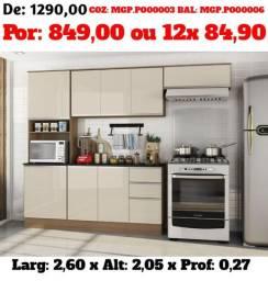 Promoção de Moveis - Cozinha Compactas Modernas - Top de linha