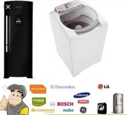 Conserto de máquina de lavar e geladeira a domicilio