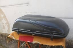 bagageiro de teto moto bul 300 litros cor preto. baixei.