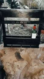 Vendo Adega de Vinho e Taça Rústica - Frete Grátis
