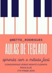 Aulas de teclado, piano e órgão