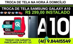 Promoção Troca display completo Samsung Galaxy A10 Instalado na hora, Garantia, Parcelamos