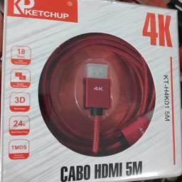 Cabo HDMI 2.0v Ketchup Colors Xbox PS3 Notebook PC TV Smartv 1,5m 26$$ | 3m 34$$ | 5m 42$$