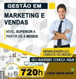 Dvd. faça o Curso Superior Sequencial em Marketing e vendas